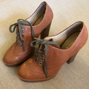 Coach Lace-Up High Heel Oxfords